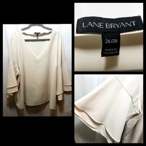 Lane Bryant Blouse w/bell sleeves